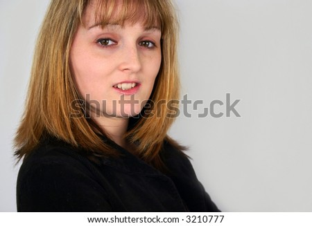 7d2784bc2864 Portrait Nice Looking Young Woman Stock Photo (Edit Now) 3210777 ...