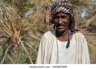 Portrait of a Nubian farmer in traditional clothing in northern Sudan - Abri, Sudan - 11 30 2018