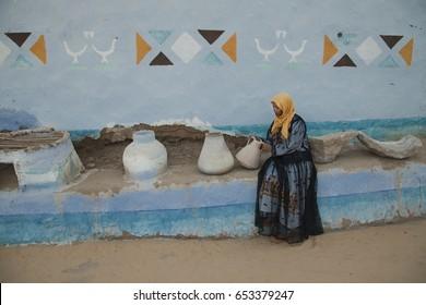 a portrait of Nubian girl
