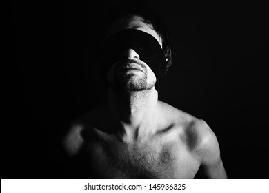 Image result for man in blindfold