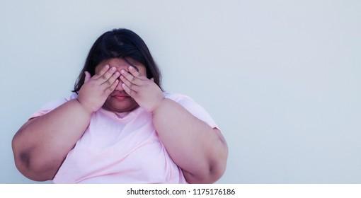 Portrait obese women