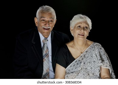 Portrait of an old couple