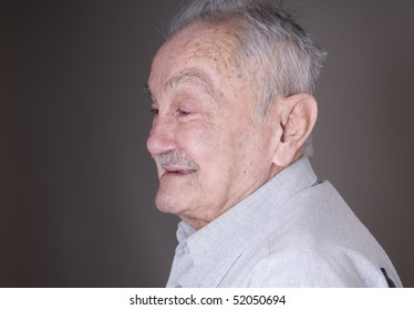 Portrait of old pretty man