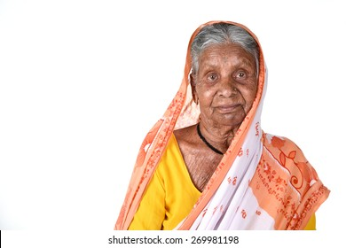 Portrait of an old woman, Senior Indian woman.