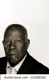 Portrait of an older African-American man in a suit