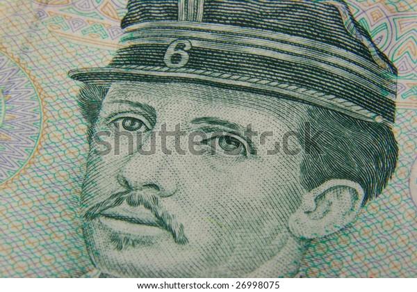 portrait on the chile money