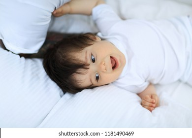 Portrait of a one year old child