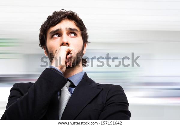 Portrait of a pensive businessman