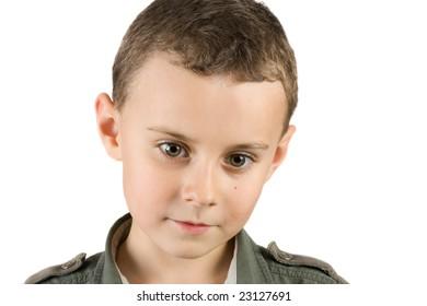 portrait of a pensive child