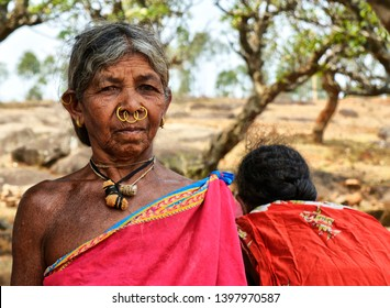 Portrait of people from , Desia Village, Odisha, India, taken in the month of March 2019.  Portraits of women from various tribes in Odisha