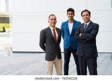 Portrait of Persian businessmen exploring the city of Bangkok together