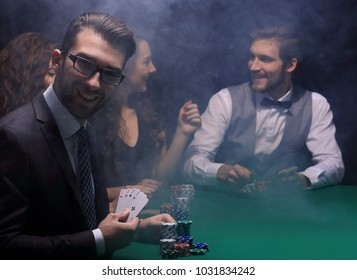 portrait of a poker player,