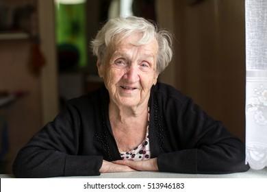 Portrait of a positive elderly woman (age 80-85)