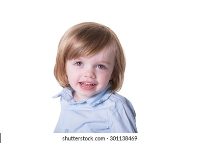 Portrait of a preschool toddler isolated