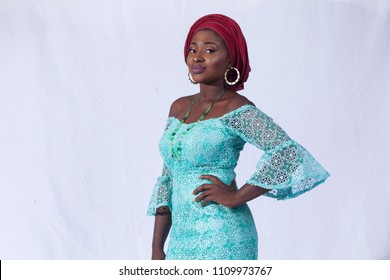 Portrait of pretty African woman dress in African traditional dress