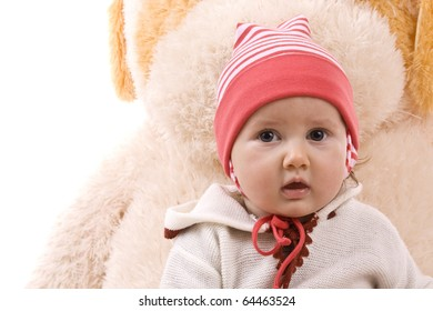 Portrait if pretty baby girl looking at camera