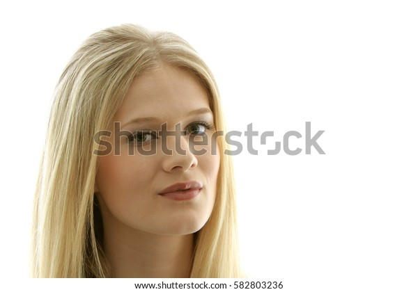Portrait of a pretty blond young woman