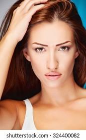 Portrait of a pretty brunette woman