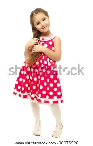 9bff56974 Portrait Pretty Little Girl Pink Dress Stock Photo (Edit Now ...