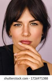 portrait pretty woman with healthy skin