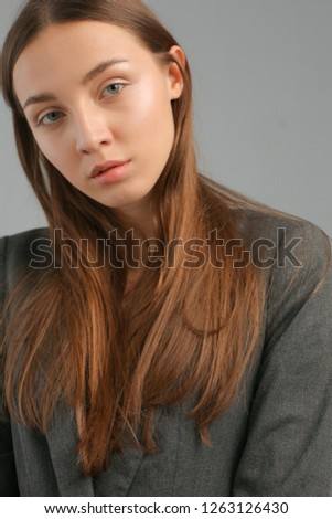 5a4dbe30370e Portrait Pretty Young Woman Natural Beauty Stock Photo (Edit Now ...