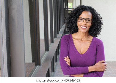 Portrait of professional black businesswoman