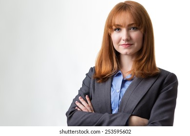 portrait of a professional looking businesswoman wearing a suit