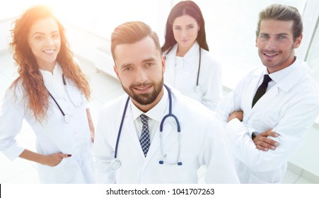 portrait of a professional team of doctors