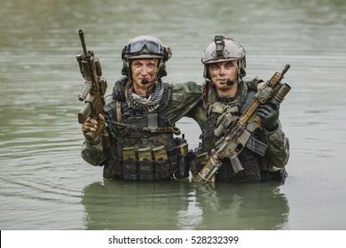 Portrait of a rangers in the battlefield