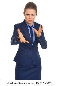Portrait of reasoning business woman