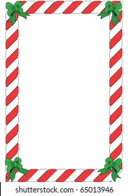 Portrait Red and White Candy Border