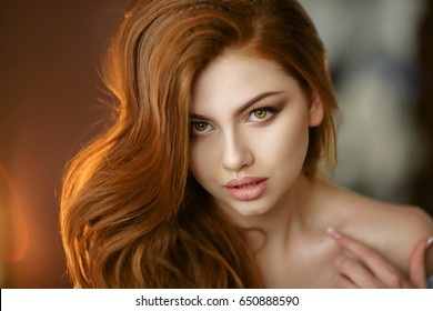 Portrait of a red-haired girl