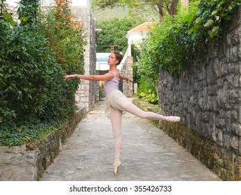 Portrait of the rehearsing ballerina