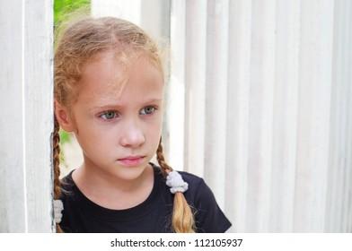 Portrait of sad child