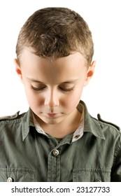 Portrait of a sad child