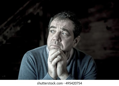 Portrait of a sad middle-aged man