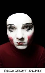 Portrait of the sad mime