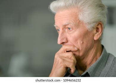 Portrait of Sad senior man
