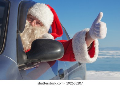 Image result for santa in a car image