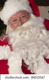Portrait of Santa resting