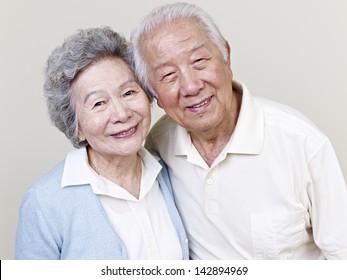 portrait of a senior asian couple.
