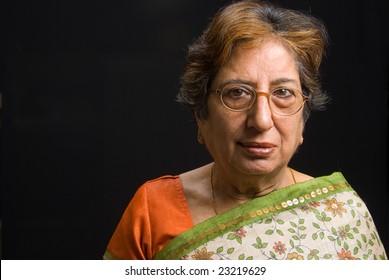 A portrait of a senior Asian woman