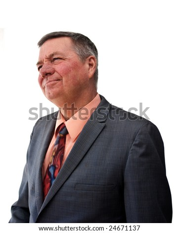 portrait senior businessman 34 view looking stock photo edit now