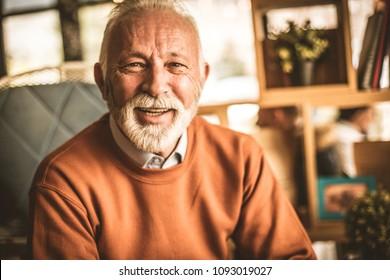 Portrait of senior businessmen. Smiling .