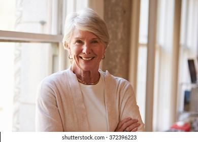 Portrait Of Senior Businesswoman In Office