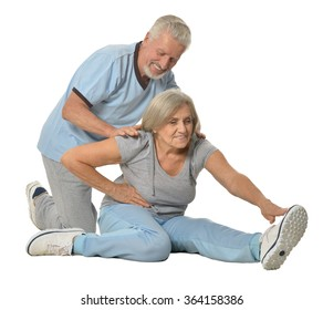 Portrait of Senior Couple Exercising