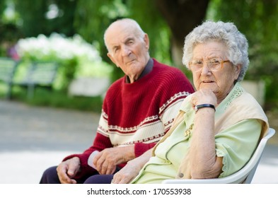 Portrait of a Senior couple in the park