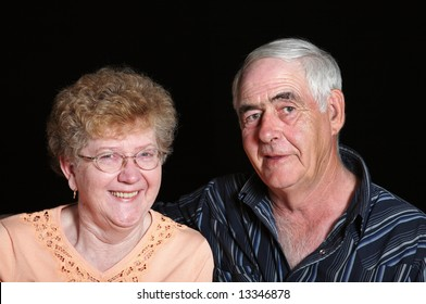 Portrait of a senior couple in their mid to late sixties.