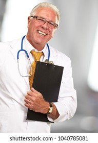 Portrait Of A Senior Doctor, Background