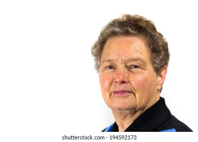 Portrait of a senior dutch woman